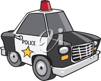 Royalty Free Clipart Image of a Patrol Car