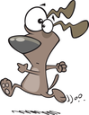Royalty Free Clipart Image of a Running Dog