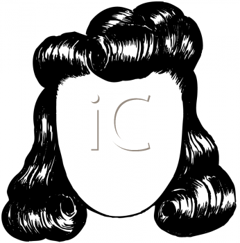 Royalty Free Clipart Image of a Retro Hairstyle