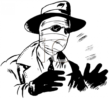 Royalty Free Clipart Image of an Invisible Man