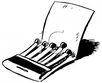 Royalty Free Clipart Image of a Package of Matches