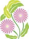 Royalty Free Clipart Image of an Easter Flower