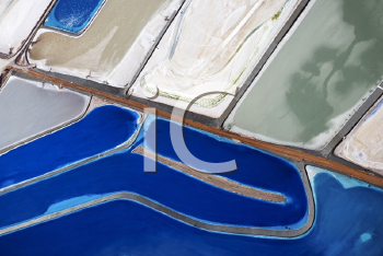 Royalty Free Photo of an Aerial View of Tailing Ponds in Utah, USA