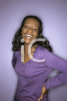 Royalty Free Photo of a Laughing Woman