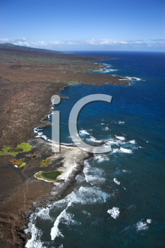 Royalty Free Photo of an Aerial of Maui, Hawaii Beach and Pacific Ocean