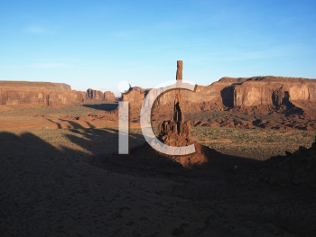 Royalty Free Photo of Buttes and Mesas in Southwest Landscape of Monument Valley, Utah