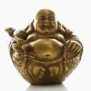 Royalty Free Photo of a Happy Laughing Buddha Brass Figurine