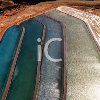 Royalty Free Photo of an Aerial of Tailing Ponds for Mineral Waste in Rural Utah, United States
