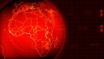 Royalty Free HD Video Clip of a  Rotating Red Earth