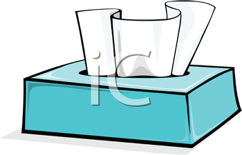 Royalty Free Clipart Image of a Tissue Box