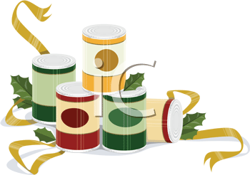 Royalty Free Clipart Image of Canned Foods