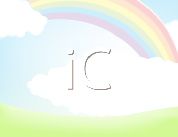 Royalty Free Clipart Image of a Rainbow and Cloud