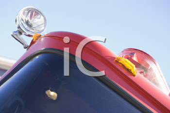 Royalty Free Photo of a Corner of a Firetruck