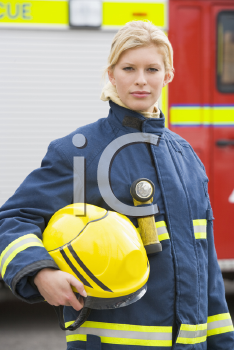 Royalty Free Photo of a Female Firefighter