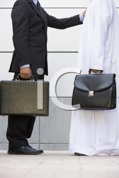 Royalty Free Photo of Two Men With Briefcases