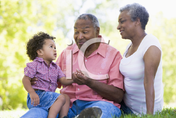 Royalty Free Photo of a Couple With Their Grandson