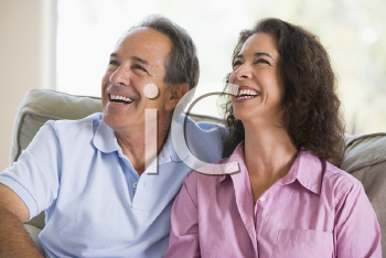 Royalty Free Photo of a Couple Laughing