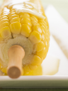 Royalty Free Photo of Melted Butter on Corn