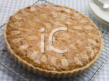 Royalty Free Photo of a Whole Bakewell Tart