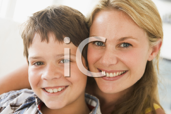 Royalty Free Photo of a Woman and Her Son
