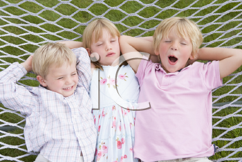 Royalty Free Photo of Children in a Hammock