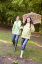Royalty Free Photo of a Couple With an Umbrella
