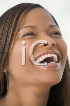 Royalty Free Photo of a Laughing Black Woman