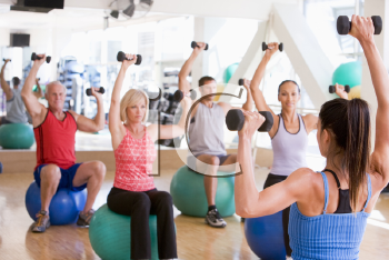 Royalty Free Photo of an Exercise Class
