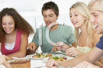Royalty Free Photo of Friends Having Lunch