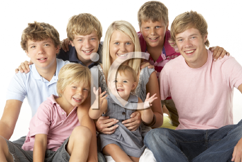 Royalty Free Photo of a Large Family of Children