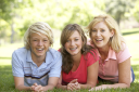 Royalty Free Photo of a Woman and Her Children