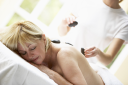 Royalty Free Photo of a Woman Getting a Massage