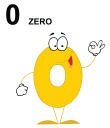 Royalty Free Clipart Image of a Zero