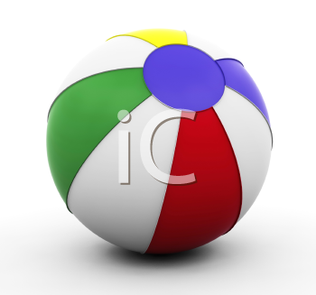 Royalty Free Clipart Image of a Beach Ball