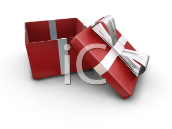 Royalty Free Clipart Image of an Open Gift Box