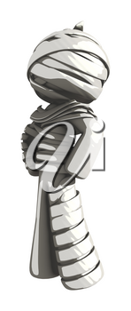 Mummy or Personal Injury Concept Standing like a Hero