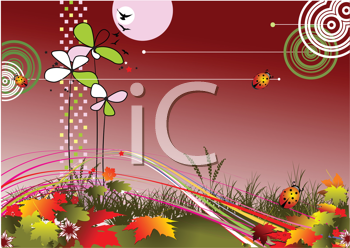 Royalty Free Clipart Image of an Autumn Background
