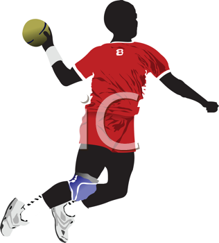 Royalty Free Clipart Image of a Ball Player
