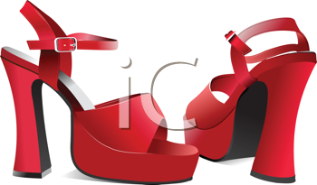 Royalty Free Clipart Image of Women's Shoes