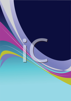 Background with curve  shapes or cover for brochure