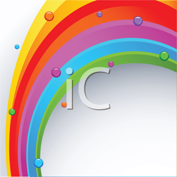 Royalty Free Clipart Image of an Abstract Rainbow Background