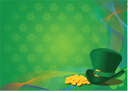 St. Patrick's Day Background with Leprechaun Hat