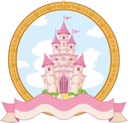 Princess magic castle label design