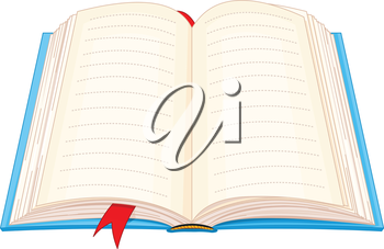 Royalty Free Clipart Image of an Open Book