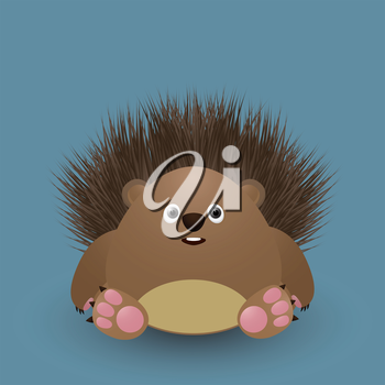 Cute cartoon baby hedgehog