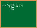 Royalty Free Clipart Image of a Formula and Table Written on a Board
