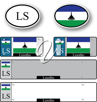 lesotho auto set against white background, abstract vector art illustration, image contains transparency