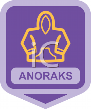 Royalty Free Clipart Image of an Anorak