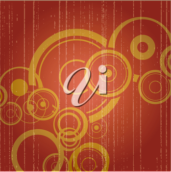 Royalty Free Clipart Image of a Retro Background With Circles