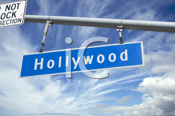 Royalty Free Photo of a Hollywood Traffic Sign
